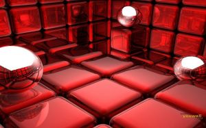 3D Red Wallpaper