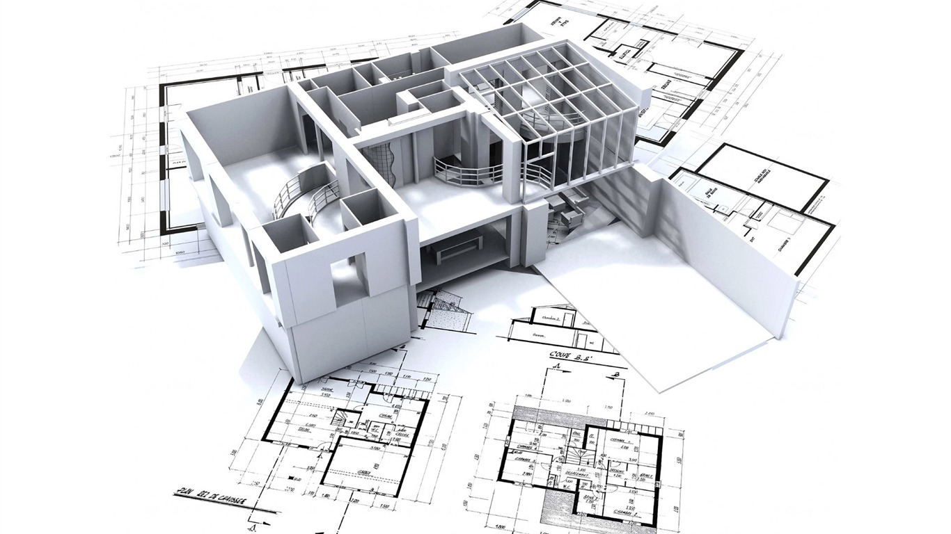 Architecture Blueprints Wallpaper architectural house floor plans. architectural rendering in