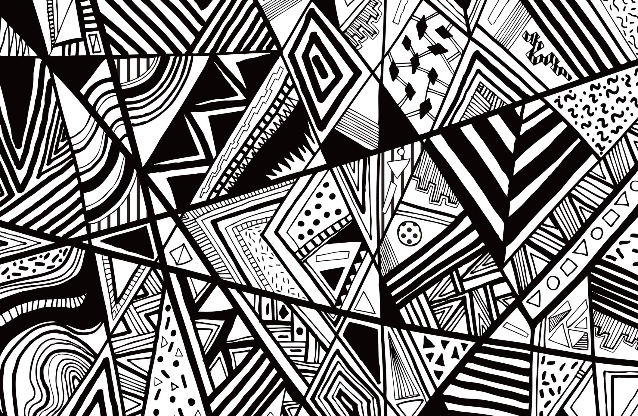 30 image for pc: black and white abstract