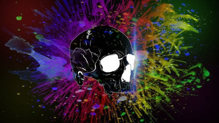 Colorful Skull Pic