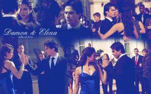 Wallpaper Damon And Elena