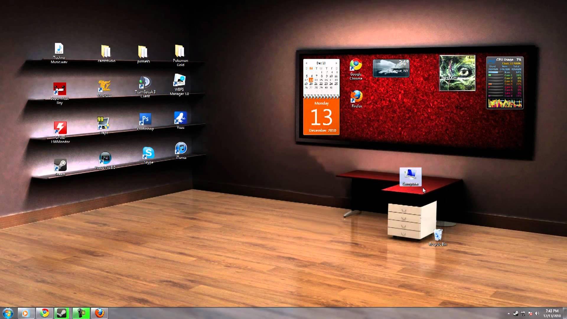 3D компьютеры обои для рабочего стола