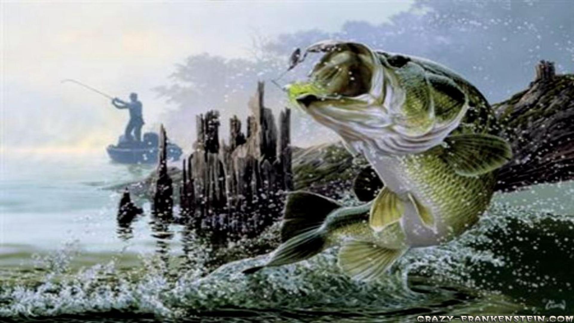 обои рыбак