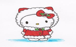 Hello Kitty Winter Photo