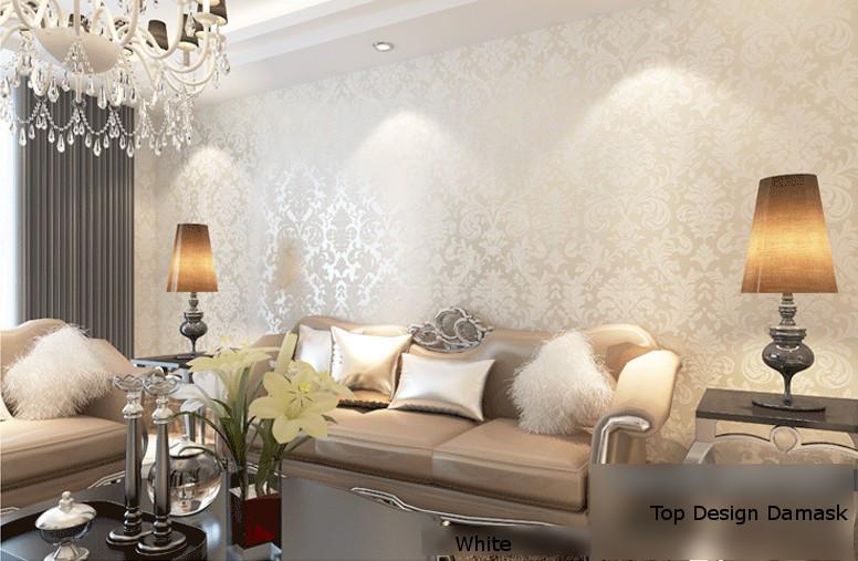 Metallic Wallpaper Bedroom - Bedroom Designs