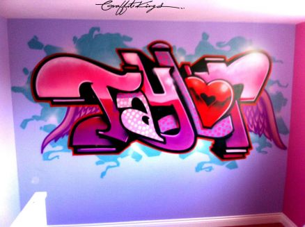 Wallpaper Pink Graffiti