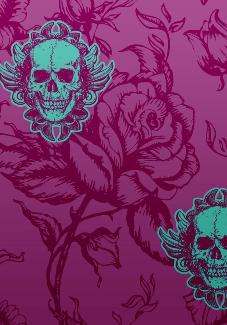 skull-and-roses-wallpaper