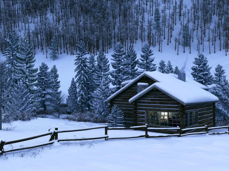 winter-cabin-wallpaper
