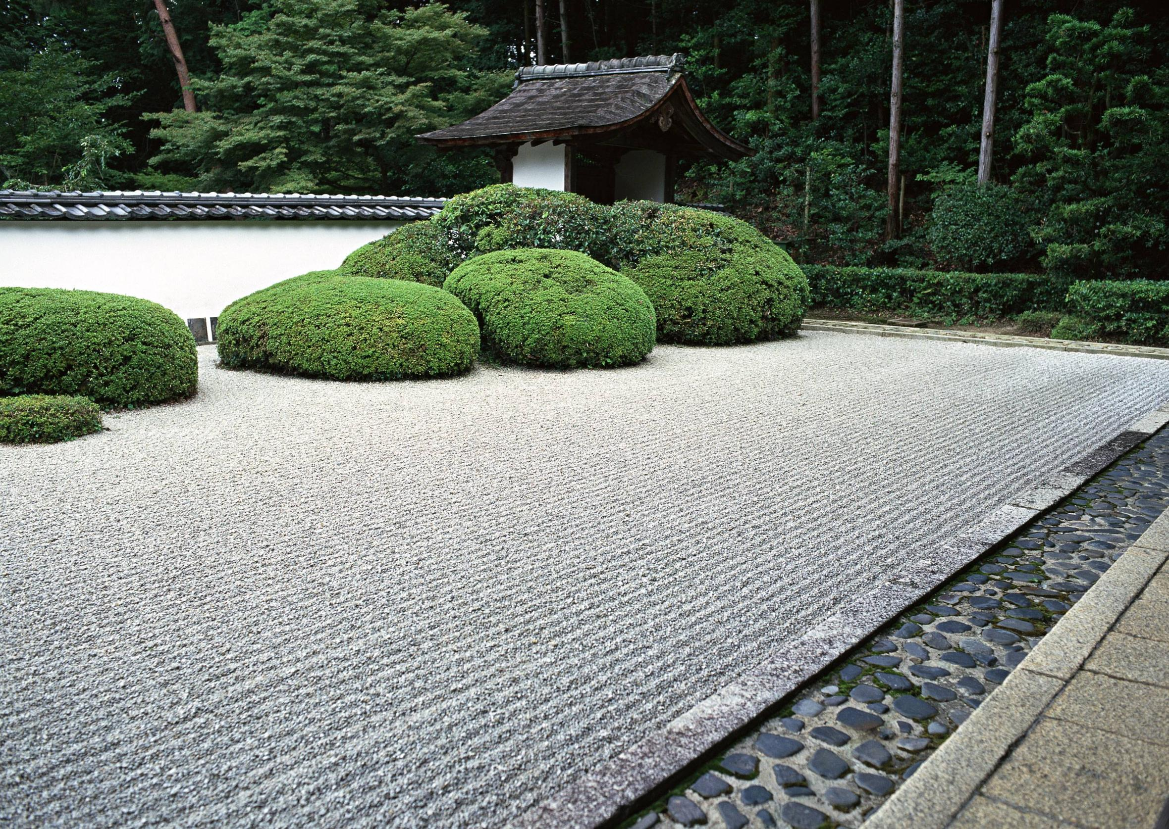 Japanese rock garden wallpaper