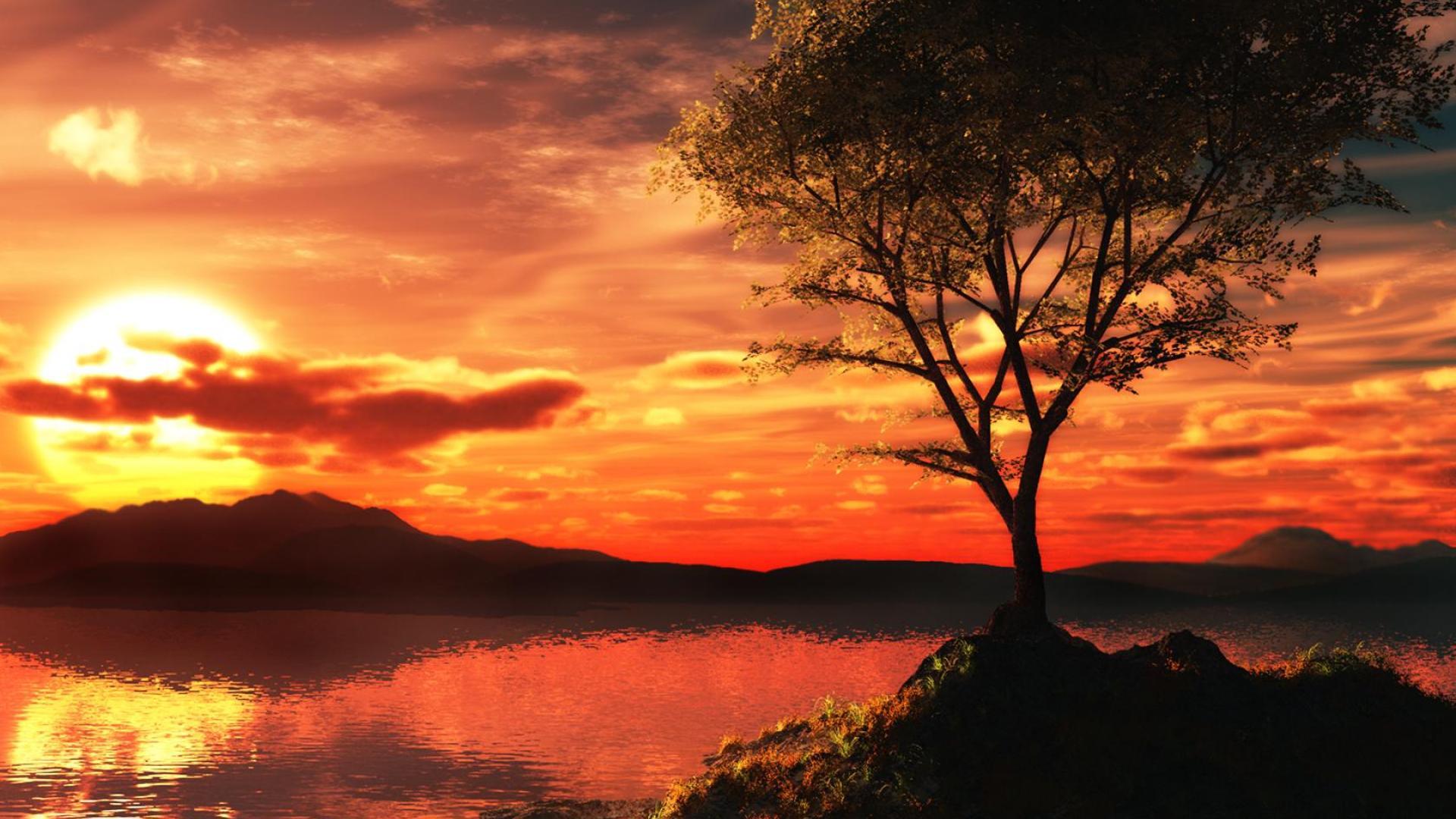 4k Ultra Hd Backgrounds 3d Sunset Dietfried Angerstein