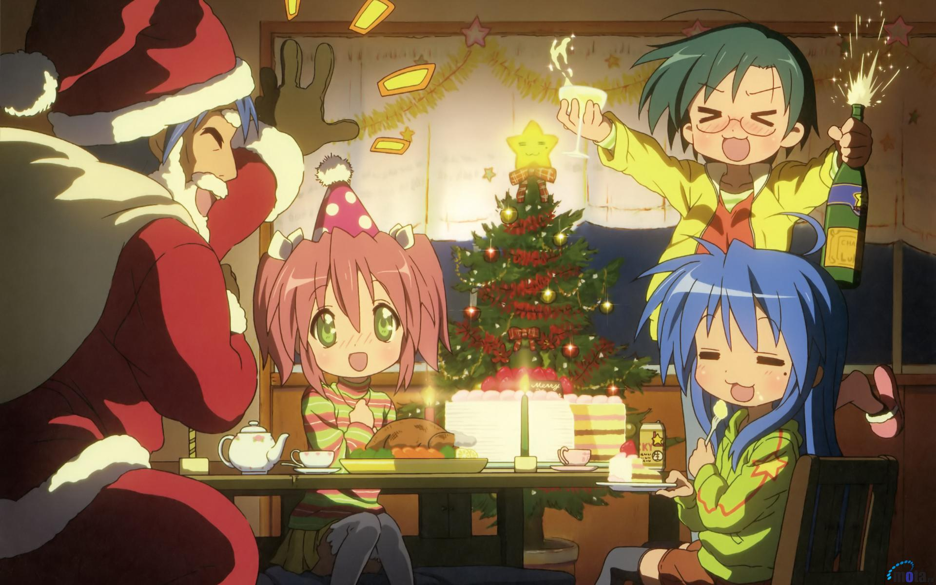 Awesome Anime Christmas Picture In Widescreen