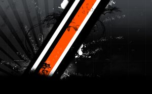 Black And Orange Wallpaper