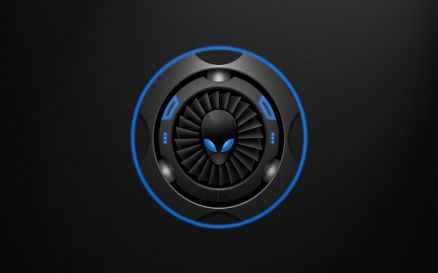 Wallpaper Blue Alienware