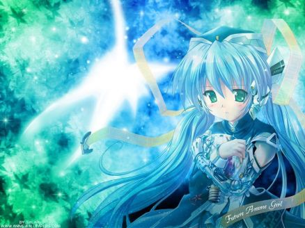 Wallpaper Blue Anime