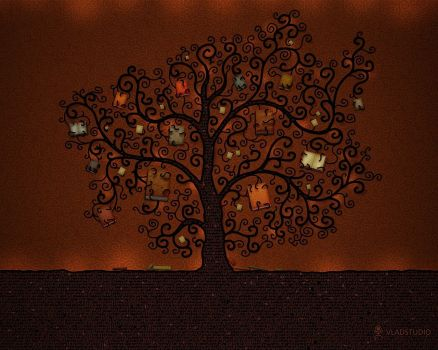 Brown Tree Wallpaper