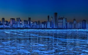 Chicago Skyline At Night Wallpapers