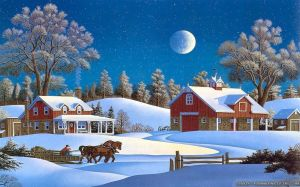 Wallpaper Christmas Winter Scenes