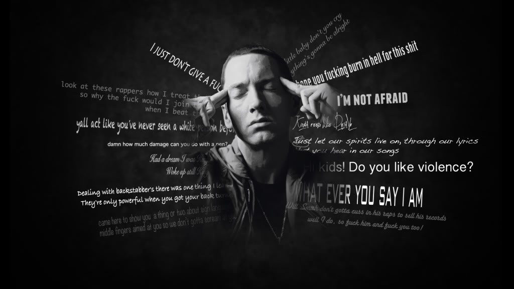 Download Free Eminem Quotes Wallpapers 1024x576. 1024x576 0.067 MB