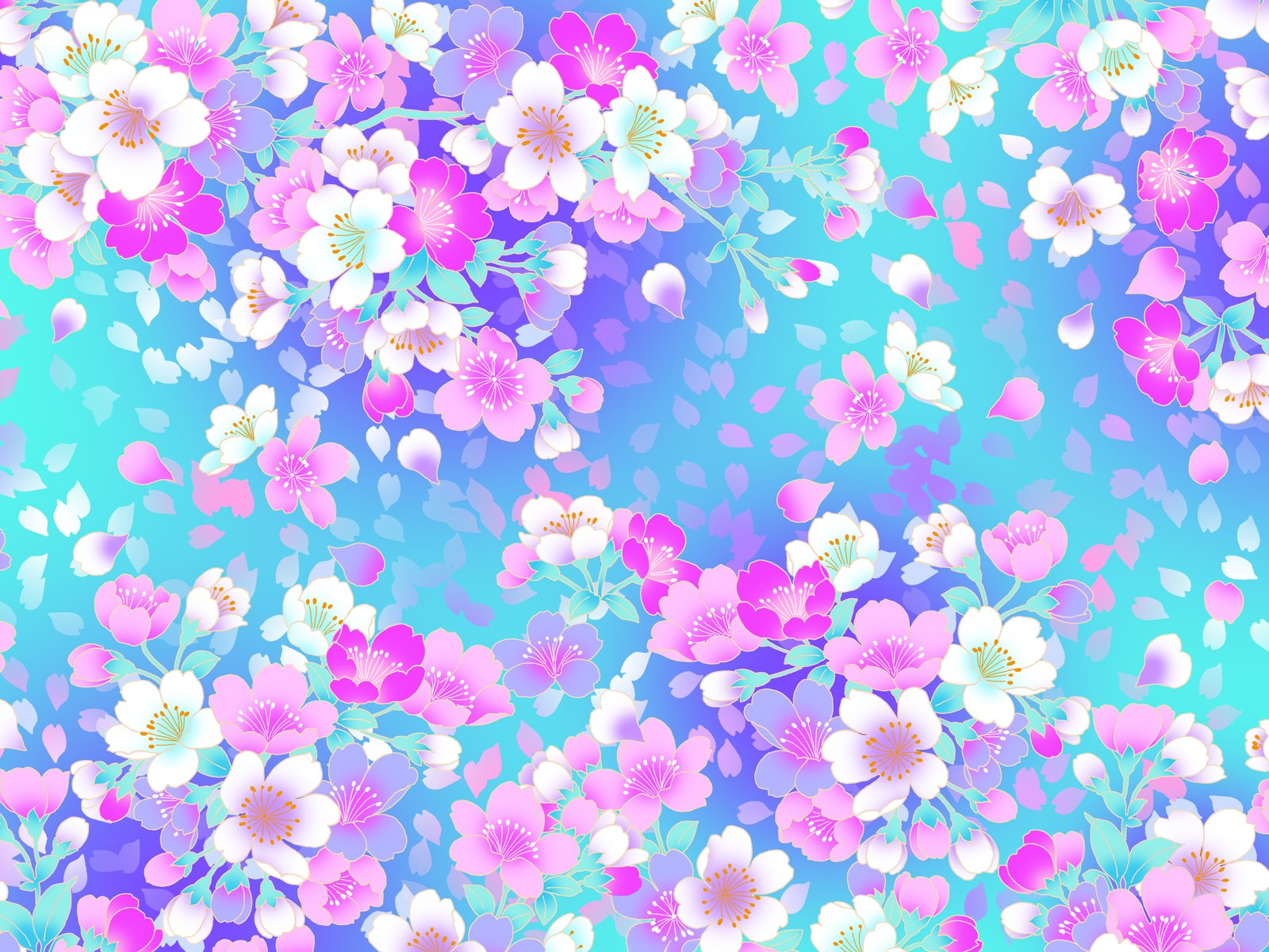 Floral Pattern Wallpaper For Tablet Pc
