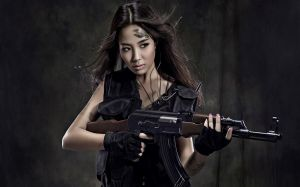 Girl With Guns Wallpapers