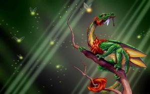 Green Dragon Wallpaper HD