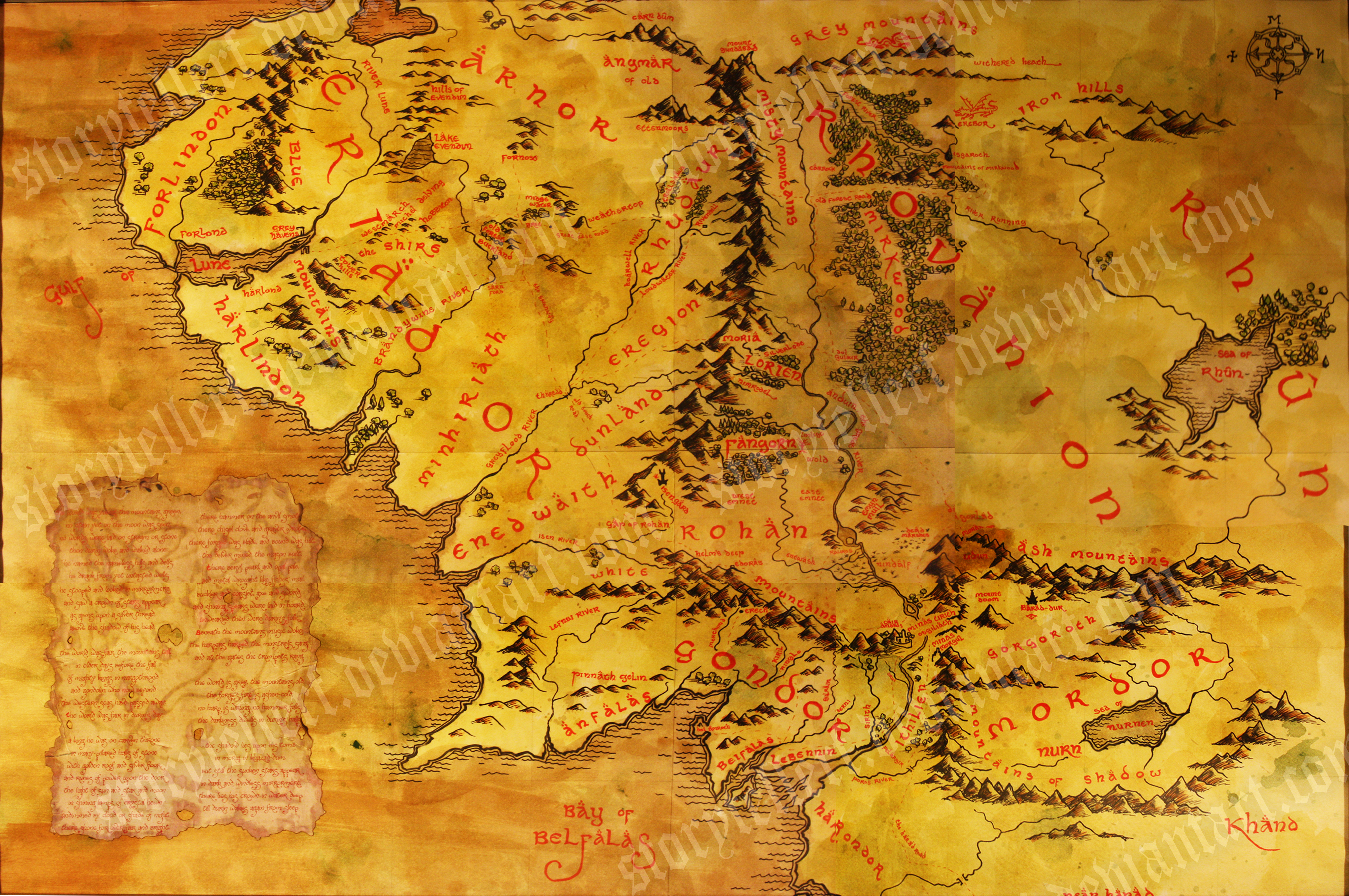 28 High Resolution Middle Earth Map Wallpapers Dmitar Menham