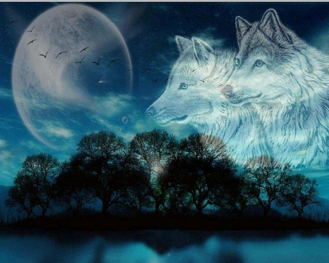Top Moon Wolf Pic In High Quality GoldWallpapers