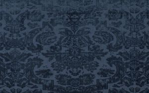Navy Blue Damask Wallpaper