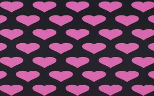Pink And Black Hearts Wallpaper