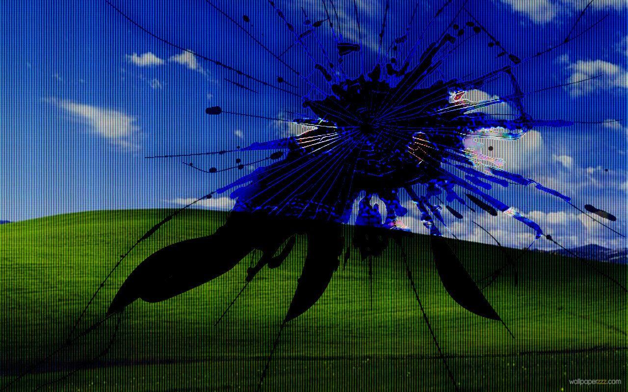 HQFX Creative Realistic Broken Screen