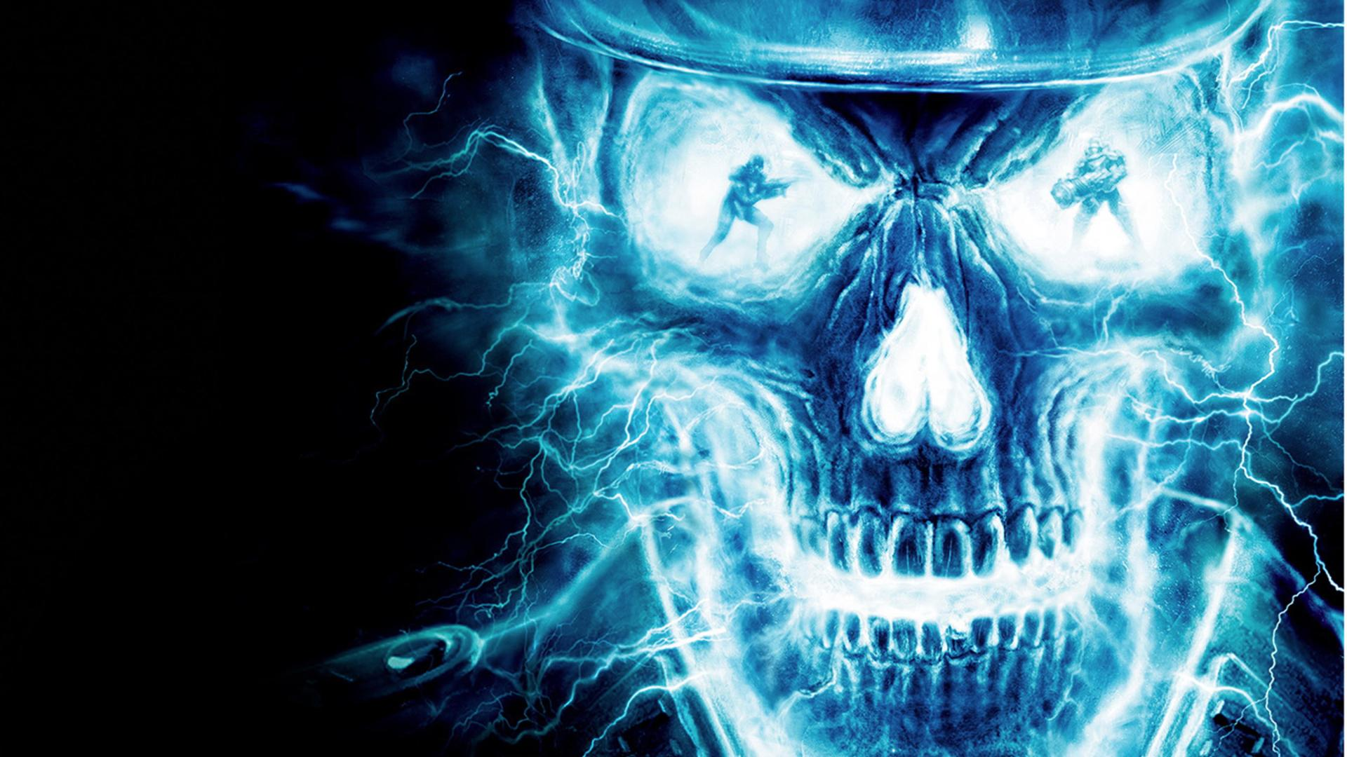танцевальное картинки череп на синем фоне стол