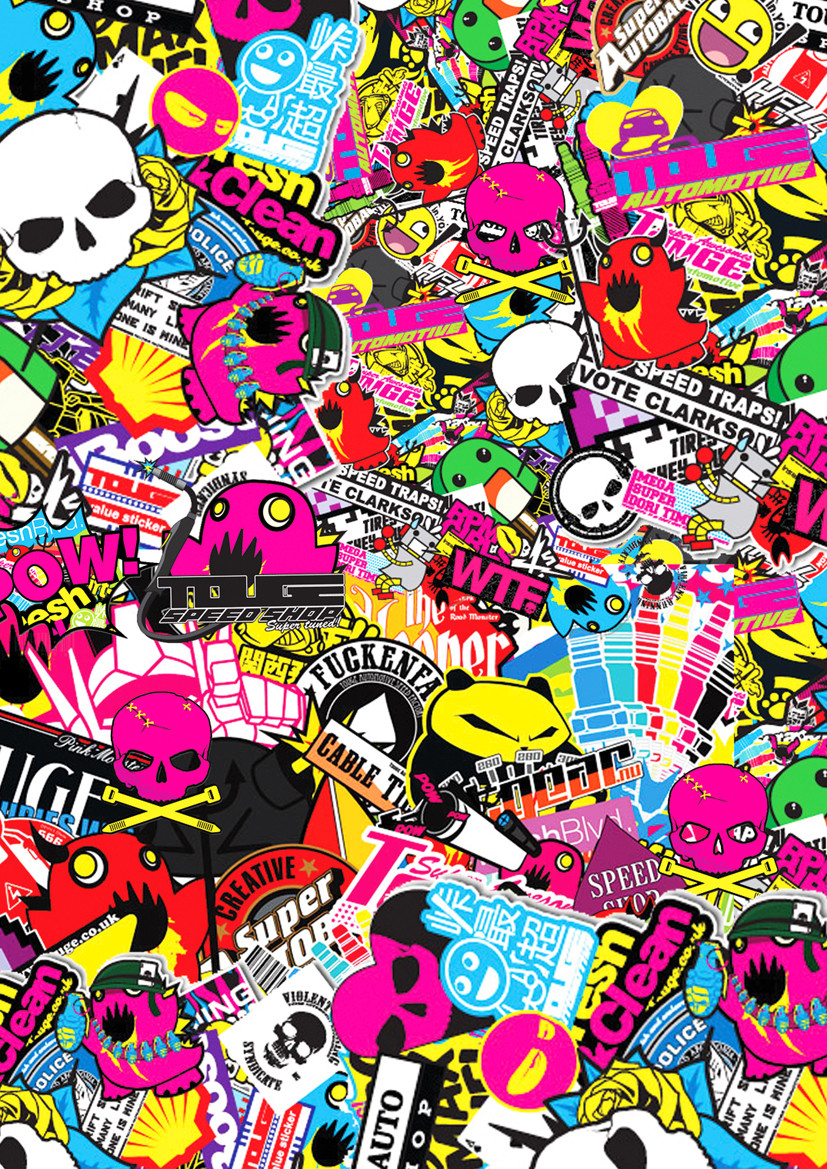 FHDQ Creative Sticker Bomb Pictures
