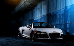 White Audi R8 Wallpapers