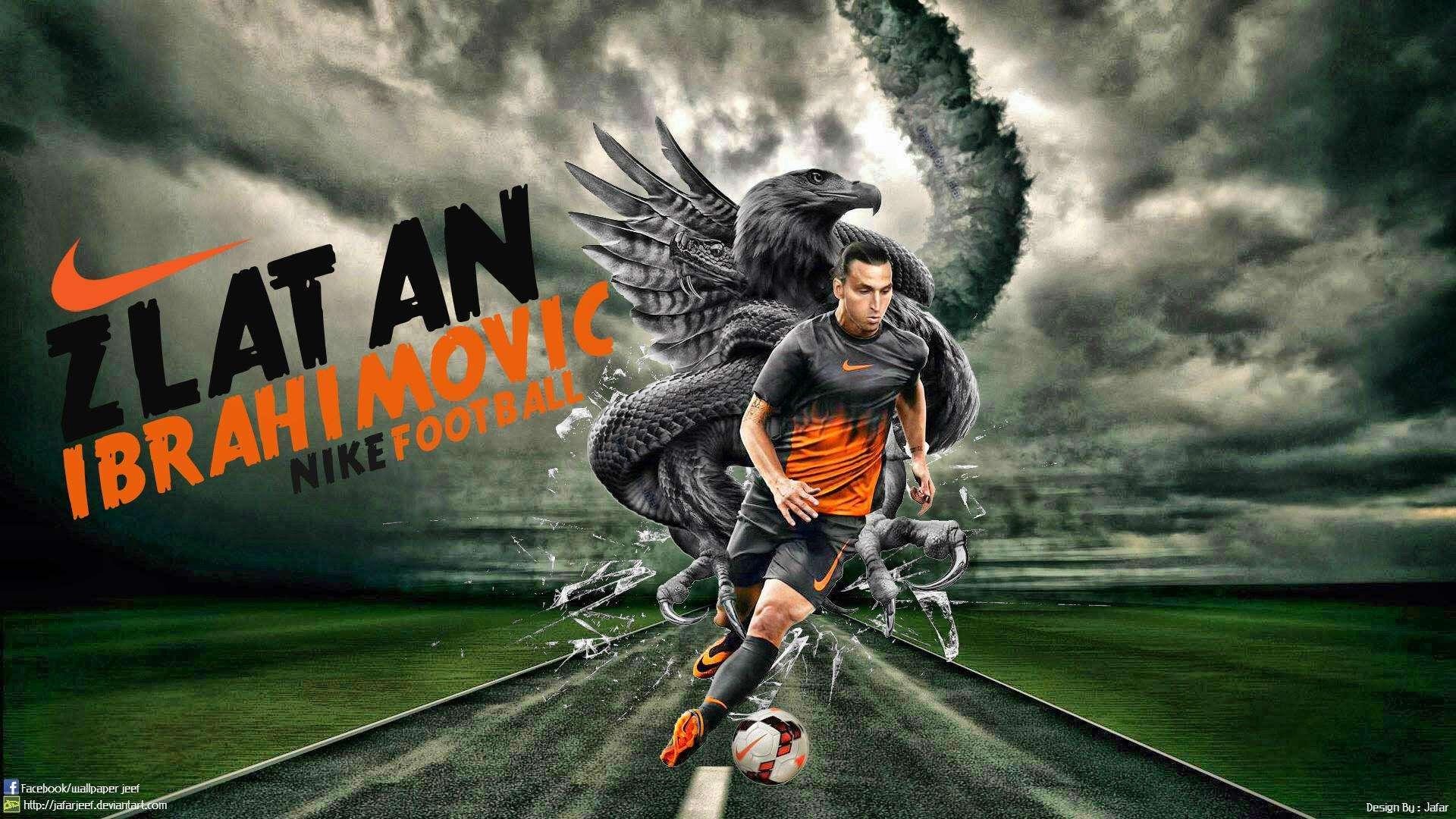 "Swedish Professional Striker Footballer 43/""x24/"" Poster 070 Zlatan Ibrahimovic"